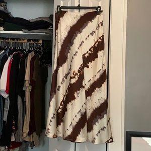 H&M dye effect satin skirt